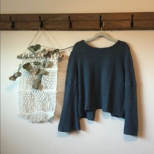 ROXY bell sleeve sweater